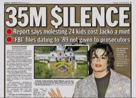 """This fabrication was published by the NY Daily on June 30, 2013 and is archived now.  It refers to some non-existent FBI files said to be full of """"stomach-churning details about the late King of Pop's seamy past"""" . The article names Anthony Pellicano as the source of those files. The truth is that there were NO secret FBI files and Pellicano said about his former client: """"I have maintained Michael Jackson's innocence from the very start, and I still maintain that he is innocent."""" In 2011 the Daily Beast published a table of Pellicano's clients adding that Pellicano found """"damning evidence"""" against … the Chandlers, the accuser's family. Source: http://www.thedailybeast.com/newsweek/2011/08/07/pellicano-s-reach.html"""