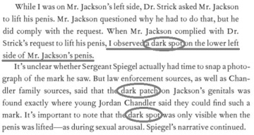 And in her book Dimond says Jordan described a certain DARK spot