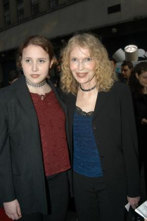 Dylan and Mia Farrow