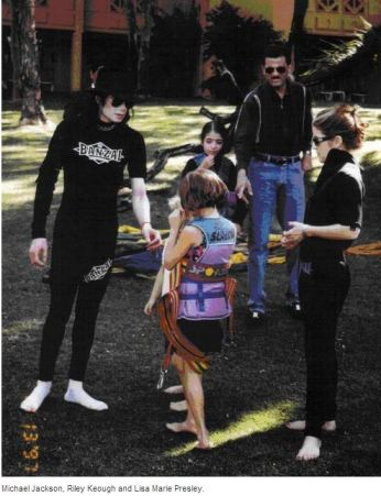 Michael Jackson with Lisa-Marie's children