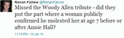 Ronan Farrow's tweet