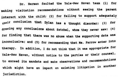 Dr. Herman was critical of the Yale-New Haven report