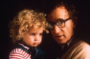 Dylan with her stepfather in 1988