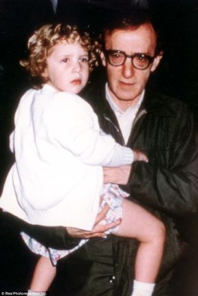 Photo of Woody Allen with his adoptive daugher Dylan Farrow. Photo: Rex/photoreporters Inc.