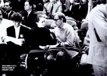 Woody Allen and Soon-Yi began dating long before their marriage in 1997. This photo shows them attending a Knicks game in 1990. at that time Soon-Yi was 17.