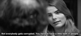 "A scene from Manhattan with Mariel Hemingway ""Not everybody gets corrupted. You have to have a little faith in people"""