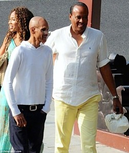 Strange pairing: Dr. Conrad Murray met up with Janet Jackson's ex-husband James DeBarge on Tuesday for a lunch in Beverly Hills, California. Daily Mirror, March 27, 2104