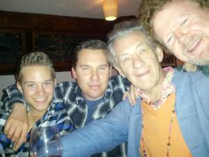 Bryan Singer with another boyfriend and Gary Goddard