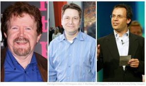 Gary Goddard (left), Garth Ancier (center), David Neuman (right)