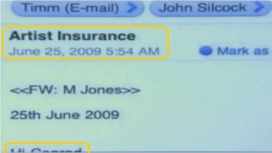 "June 25th, 5:54am Re: Artist Insurance ""Hi Conrad..."""
