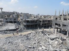 Ruins of a residential area in Beit Hanoun/Northern Gaza, August 2014; Photo: B'Tselem/Wikipedia