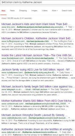 $40 billion claim by Katherine Jackson screenshot