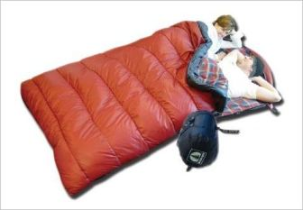 A doubler, non-standard sleeping bag for two persons. Michael Jackson's condo had standard one-person sleeping bags only