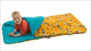 A standard sleeping bag for one person