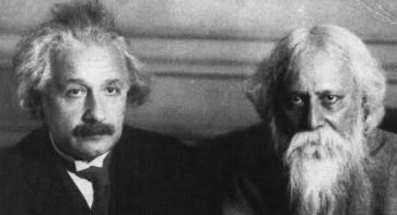 Einstein and Tagore, 1930
