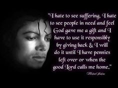 I hate to see suffering ~MJ