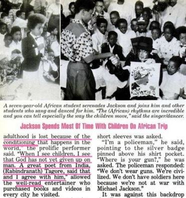 MJ spent most of his time with children in Africa