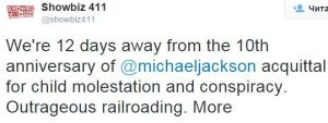 Showbiz411 rightfully called the trial of Michael Jackson OUTRAGEOUS RAILROADING