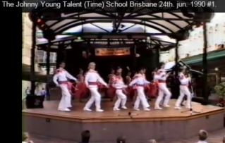 The Johnny Young Talent Team was mixed in age and included younger and older children