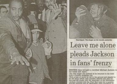 Michael was mobbed and knocked to the ground when he was in London in 1992