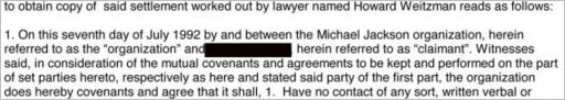 Fake settlement agreement