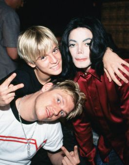 Nick and Aaron Carter with Michael Jackson
