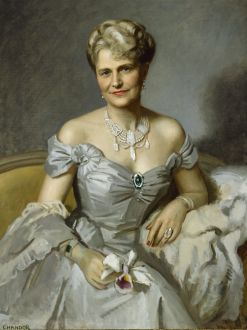 A portrait of Marjorie Merriweather Post at the Hillwood Estate, Museum & Gardens.