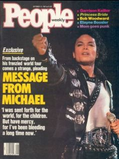 Bad tour - MJ's message in 1987