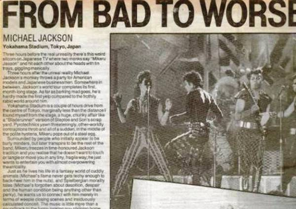 Bad tour - From Bad to Worse 1
