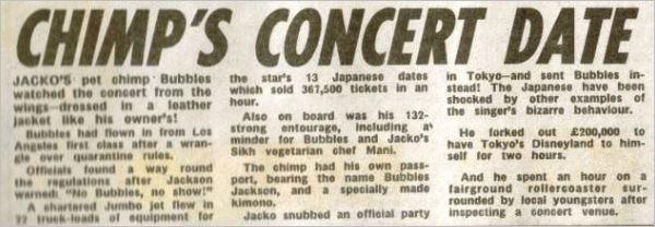 Bad tour - chimp's concert date