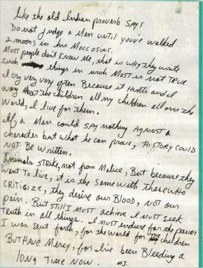 Bad tour - Michael's letter