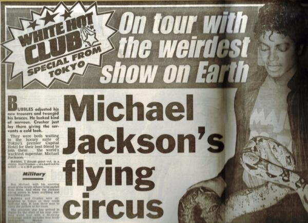 Bad tour - MJ flying circus