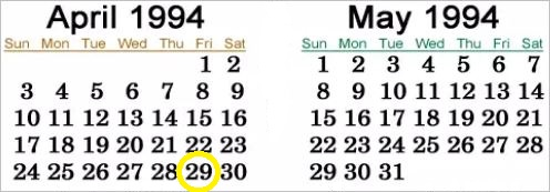 calendar-april-may-1994