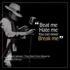 Beat me Hate me You can never break me