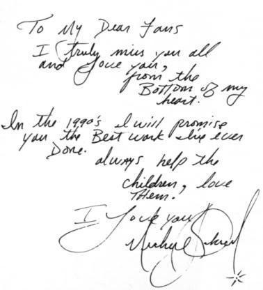 Message from MJ to fans 1