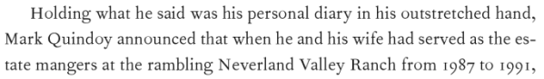 Mariano Quindoy, from DD's book Fragment about the period they worked at Neverland